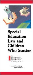 Special Education Law and Children Who Stutter